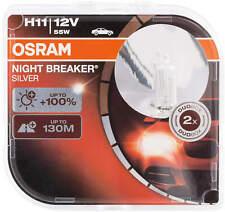 2X H11 12V 55W Halogen Pgj19 Bulbs Osram Lamps Night Breaker Silver Car