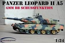 RC PANZER LEOPARD II A5 MODELL 2017 1:24  HENG LONG 3809 BB SCHUSSFUNKTION