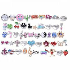 Wholesale 50PCS Lot Mix Floating Charm For Glass Living Memory Locket Random Hot