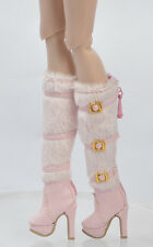 Doll Pink Shoes Boots for Fashion Royalty  FR2 Poppy Parker, DG,Momoko 26*8 MM