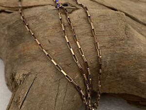 "Vintage H/M 1931 9ct Gold Elongated Belcher Link Chain Ladies Men's 18"" Jewelery"