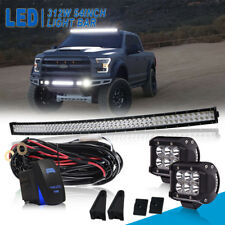 "54inch Curved 312W LED Light Bar+4"" Pods+Brackets Fit Ford F250 F350 Super Duty"