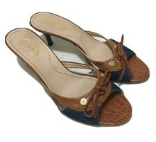 TOD's Denim & Tan Open Toe Sandals - Sz 38