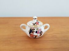 MASONS IRONSTONE CHINA BLUE MANDALAY MINIATURE SUGAR BOWL 4CM TALL DOLLS HOUSE