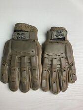 Valken V-Tac Tactical Full Finger Gloves, Brown- Size Medium