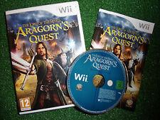 """Juego NINTENDO Wii LOTR El Señor De Los Anillos Aragorn's Quest + Caja Inst """"completa"""