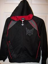Tapout Black Full Zip Down Zipper Hoodie Jacket Boys Youth Size 8 NWT