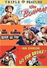 "Objective Burma! / Never So Few / Go for Broke (DVD) Triple Feature  ""Brand New"""