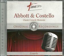 ABBOTT & COSTELLO CLASSIC COMEDY MOMENTS CD ORIGINAL RECORDINGS