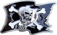 SKULL with Bones PIRATE FLAG Belt Buckle goth