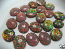 11x9mm Oval Synthetic Opal Cabochon - Mexican Brown
