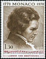 "MONACO STAMP TIMBRE N° 842 "" COMMEMORATION, BEETHOVEN 1F30 "" NEUF xx LUXE"