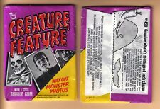 1973 Topps Creature Feature Vintage 2 Card Wax Pack!