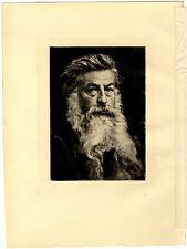 Portrait d'un Homme - d'après Ernest Meissonier Illustration 1893