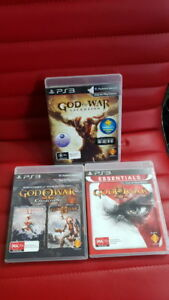 God of War 1, 2, 3 and ascension PS3