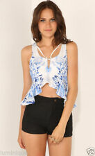 Peplum Hand-wash Only Geometric Tops & Blouses for Women