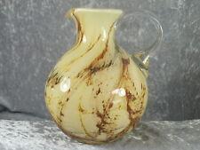Friedrich Kristall Glas Krug Glaskrug Vase Mundgeblasen Lufteinschlüsse Handarbe