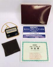 - Alarm - New Battery - Nice! Rare Seiko Pocket Watch 7412 803k - Digital