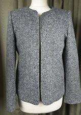 Orvis 100% Wool Flecked Tweed Peplum Jacket US6 UK10 EU38 EXCELLENT CONDITION
