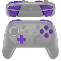 Purple ABXY D-pad ZR ZL R L Keys Buttons Set for Nintendo Switch Pro Controller