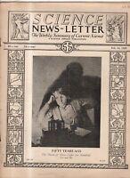 1929 Science Newsletter February 16 - Edison's electric light; Chromosomes;