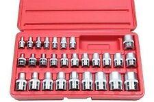 BERGEN 28 Piece 1/4'', 3/8'' & 1/2'' Dr Star Torx Socket Tool Set 1101