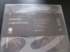 CAPPELLA U GOT 2 KNOW CD SINGLE 6 TRACKs 90'S DANCE with cd case