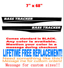 2 Lifetime Warranty Set of 3 x 48.25 inch Bass Tracker Boat hull Decal