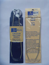 BIRCH circular knitting needles size 2.25mm, length 60cm. new unused.