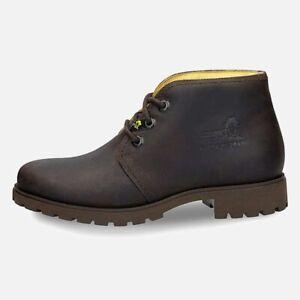 Miss Panama Jack Dark Brown Waxy Walking Boots