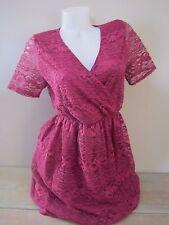ASOS Maternity Purple Lace V Neck Dress 10
