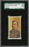 Rare 1909-11 T206 HOF Hughie Jennings Portrait Sovereign 350 Detroit SGC 30 / 2
