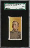 Rare 1909-11 T206 HOF Hughie Jennings Portrait Sovereign 350 Detroit SGC 30 / 2