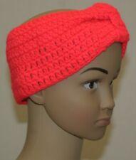 Kinder Haarband Mädchen Stirnband  95/% Baumwolle 5/% Elasthan korallenrot rot