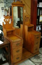 More details for grand vintage dressing table unit w/ long mirror- delivery in south wales