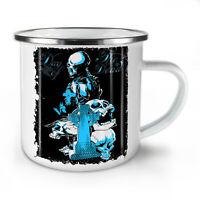 Day Of The Dead Skull NEW Enamel Tea Mug 10 oz | Wellcoda