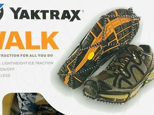 Yaktrax Walk Traction Cleats for Walking on Snow/Ice Size S Women 6-10 Men 5-8.5