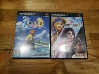 Final Fantasy X and X-2 (Sony PlayStation 2) PS2 games bundle lot tested GH CIB