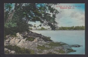 USA 1910s UNUSED SCENE ON THE SACO RIVER NEAR BIDDEFORD POOL MAINE