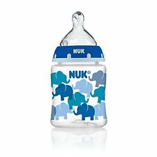 NUK 78870 Elephants Baby Bottle with Perfect Fit Nipple, 5 Ounces