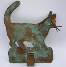 Vintage Handmade Primitive Copper Sheet Metal Wall Hook Cat