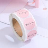 Dekoration Aufkleber Rolle Etiketten mit Siegel Vielen Dank Pink Sticker