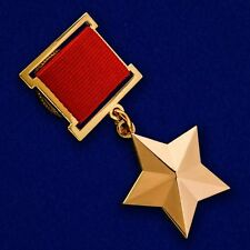 USSR AWARD ORDER MEDAL - GOLD STAR of the HERO OF the SOVIET UNION USSR - mockup