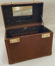 Tangaroa Made In Italy Train Beauty Case Suede Leather Travel