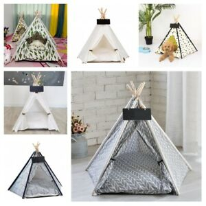 Portable Pet Tent House Washable Indoor Outdoor Teepee For Dog Cat Accessories