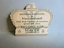 "Vintage Prince Matchabelli Georgian Carnation Advertisement 2-1/4"" x 1-3/4"""