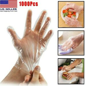 Memphis Non Medical Single Use Food Service Gloves Powder Free Plastic LG 100 Ct