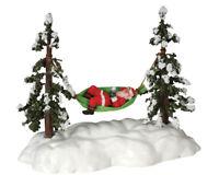 """Lemax Weihnachtsdorf """" Santa schaukelt """" Swinging Santa in Hängematte"""