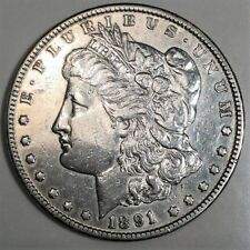 1891-CC Morgan Silver Dollar Beautiful High Grade Coin Rare Date