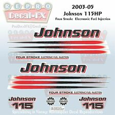 2003-05 Johnson 115 HP Four Stroke EFI Outboard Reproduction 17 Pc Vinyl Decals